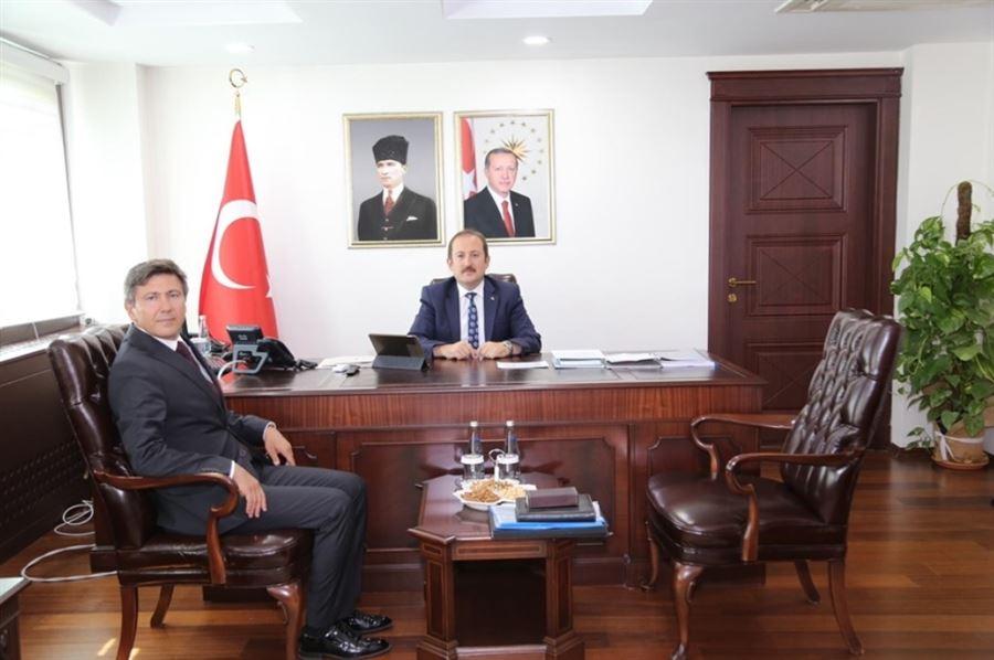 Bölge Müdürümüz Sn. Mehmet Enver KÖK' den, İlimiz Valisi Sn. Ali Hamza PEHLİVAN'a Makamında ziyaret
