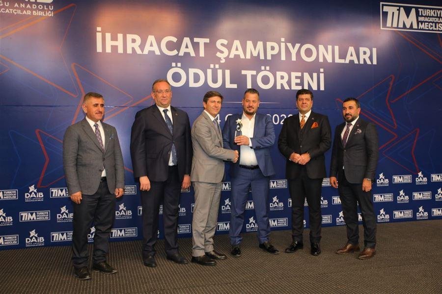 """Doğu Anadolu İhracatçılar Birliği (DAİB) düzenlenen """"İhracat Şampiyonları"""" Ödül Töreni"""